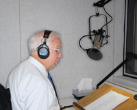 Photo Caption: Rabbi Harold Kushner lending his voice to a special JBI Audio project